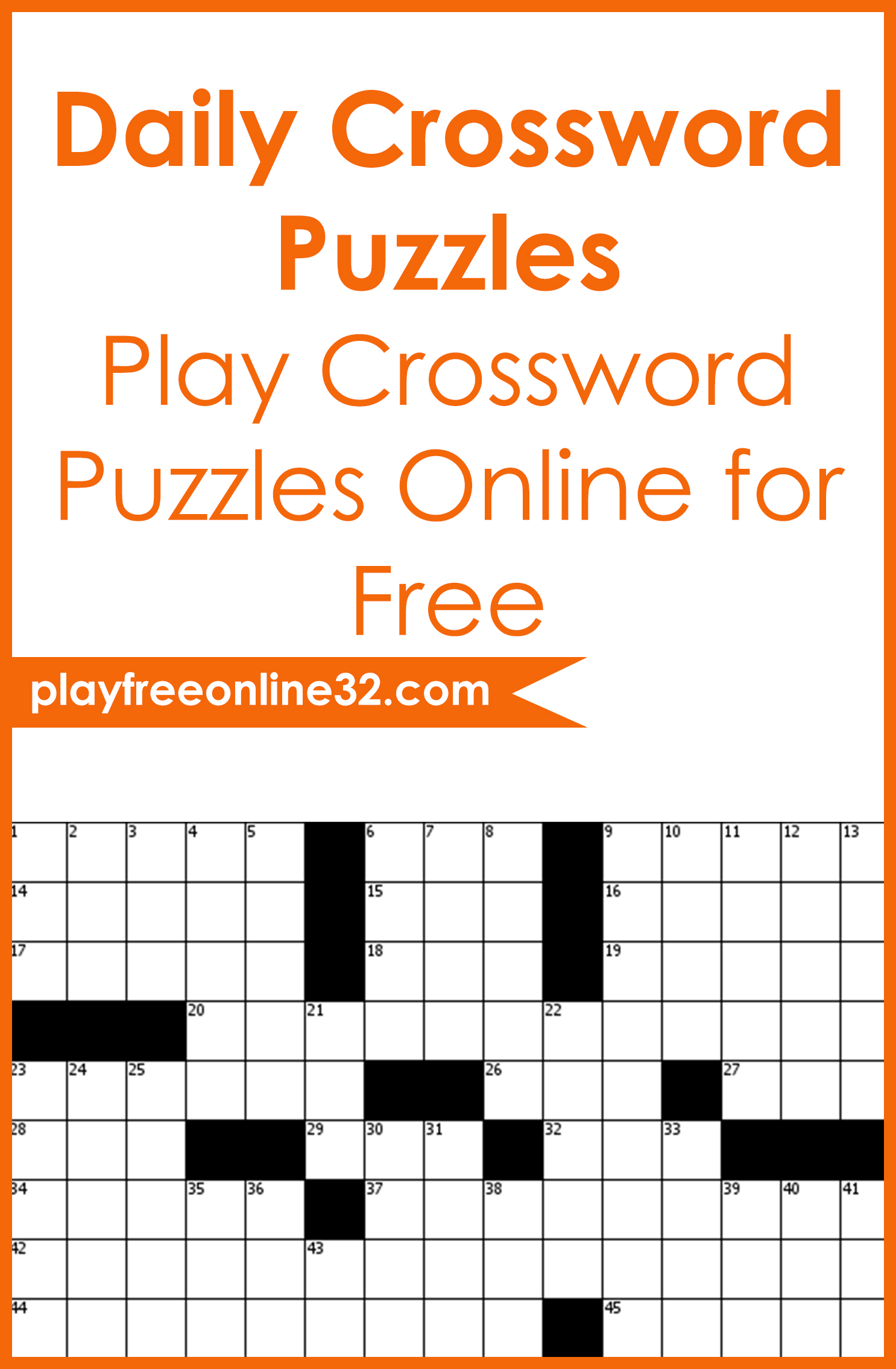 Daily Crossword Puzzles • Play Crossword Puzzles Online for Free