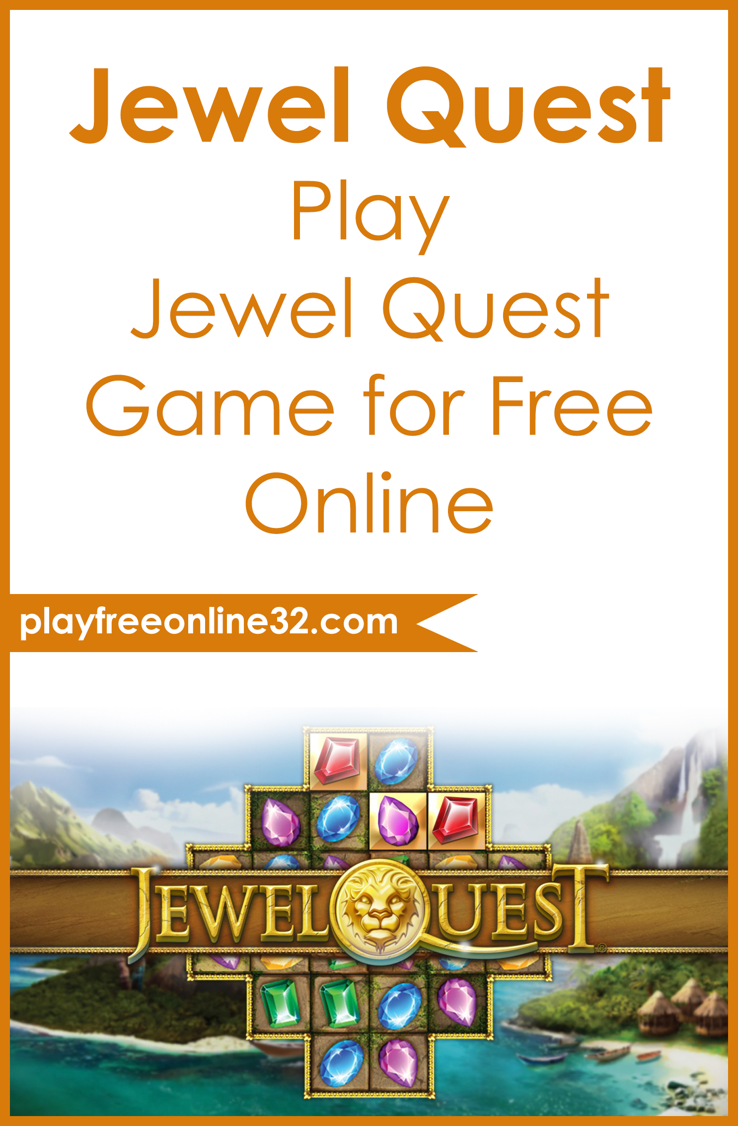Jewel Quest • Play Jewel Quest Game for Free Online Pinterest post