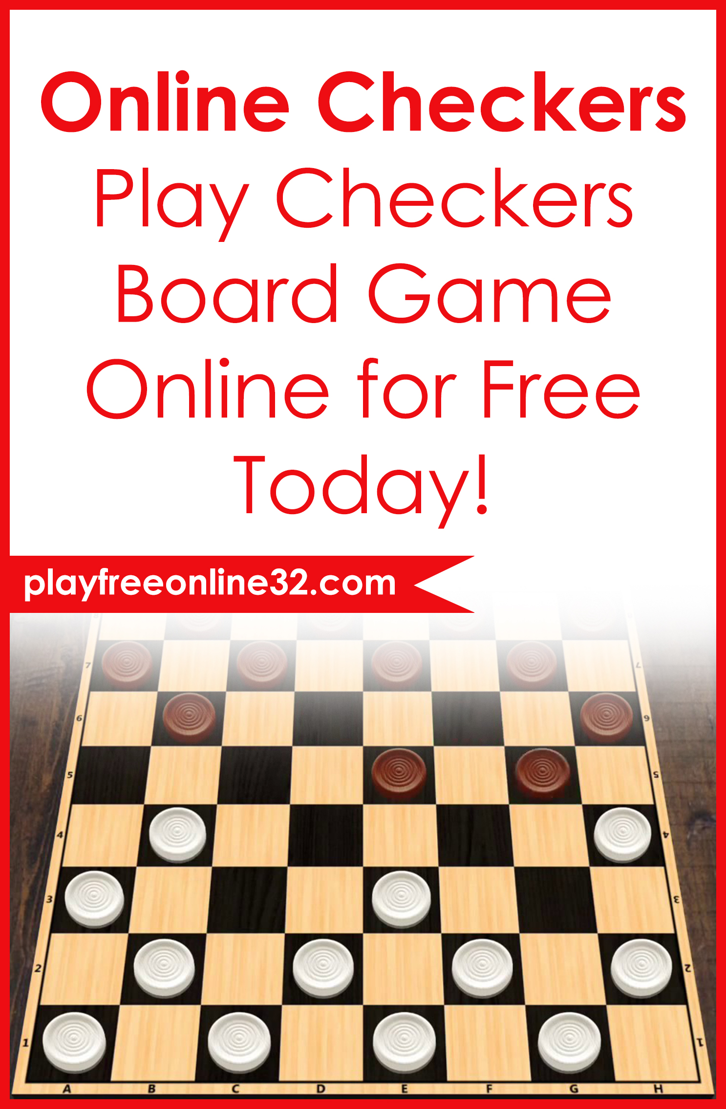 Online Checkers • Play Checkers Board Game Online for Free Today!