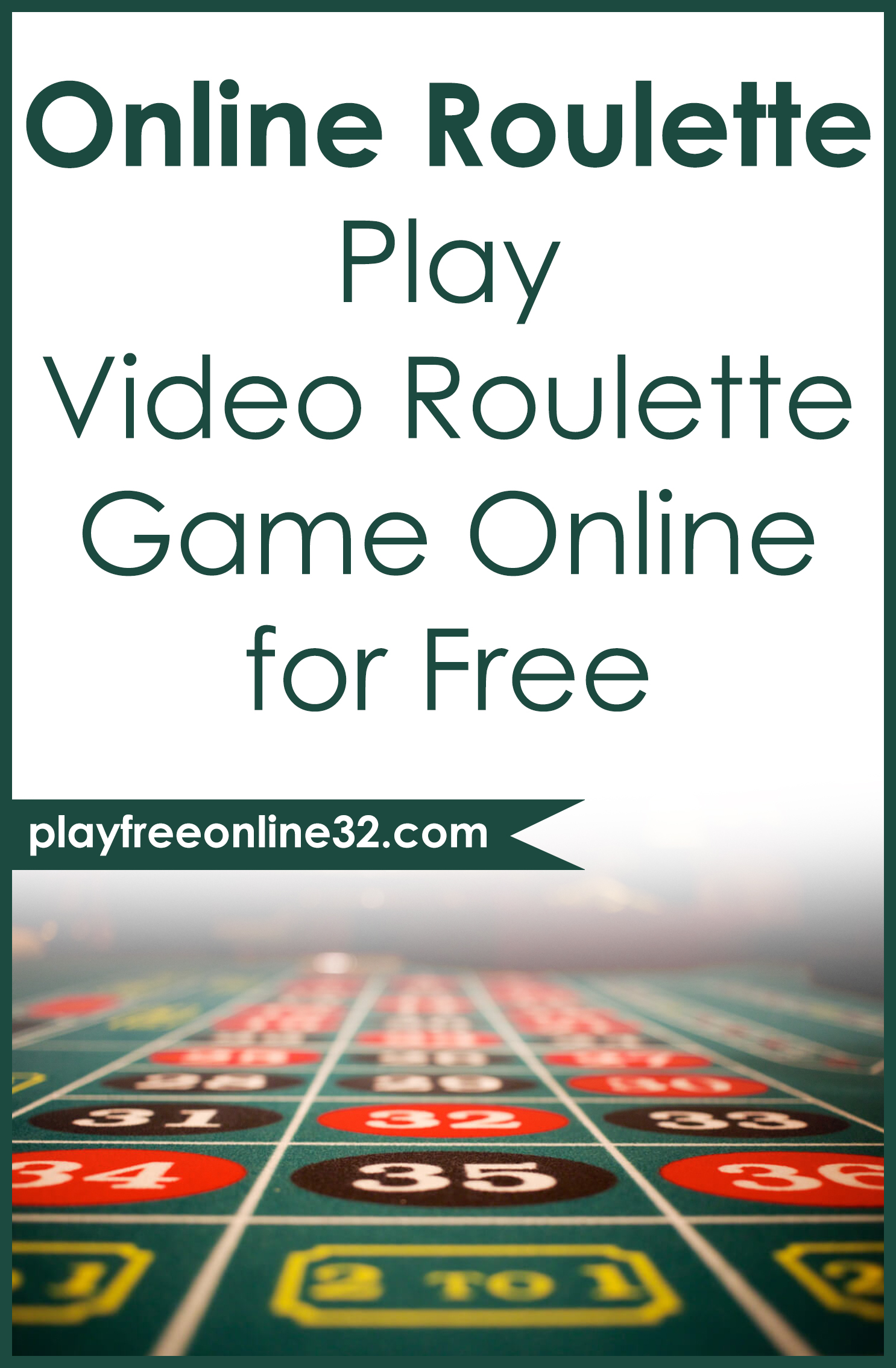 Online Roulette • Play Video Roulette Game Online for Free Pinterest