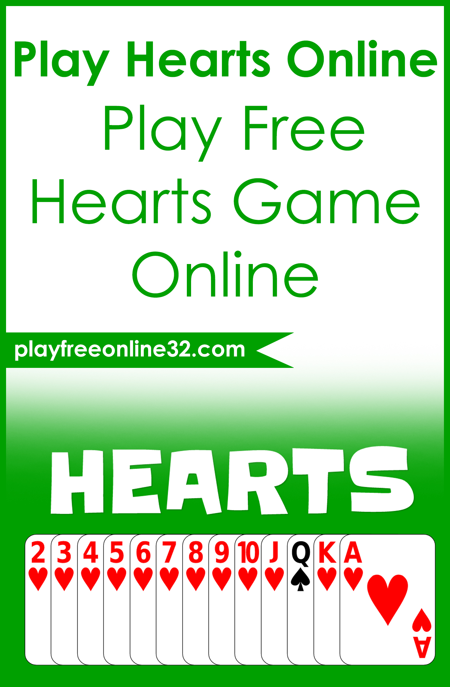 Free Online Hearts • Play Free Hearts Card Game