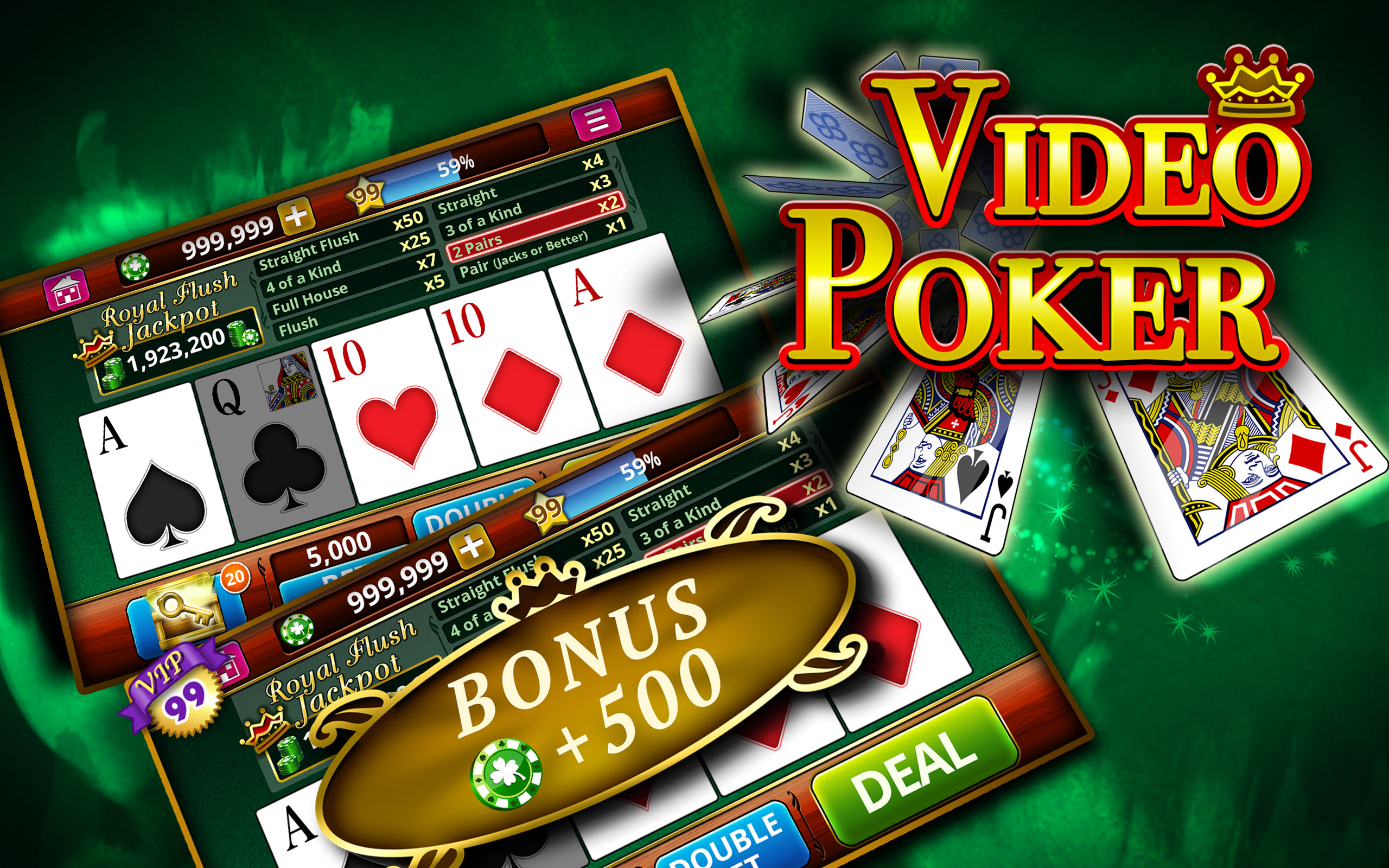 Video Poker \u2022 Play Poker Online Game for Free Unlimited