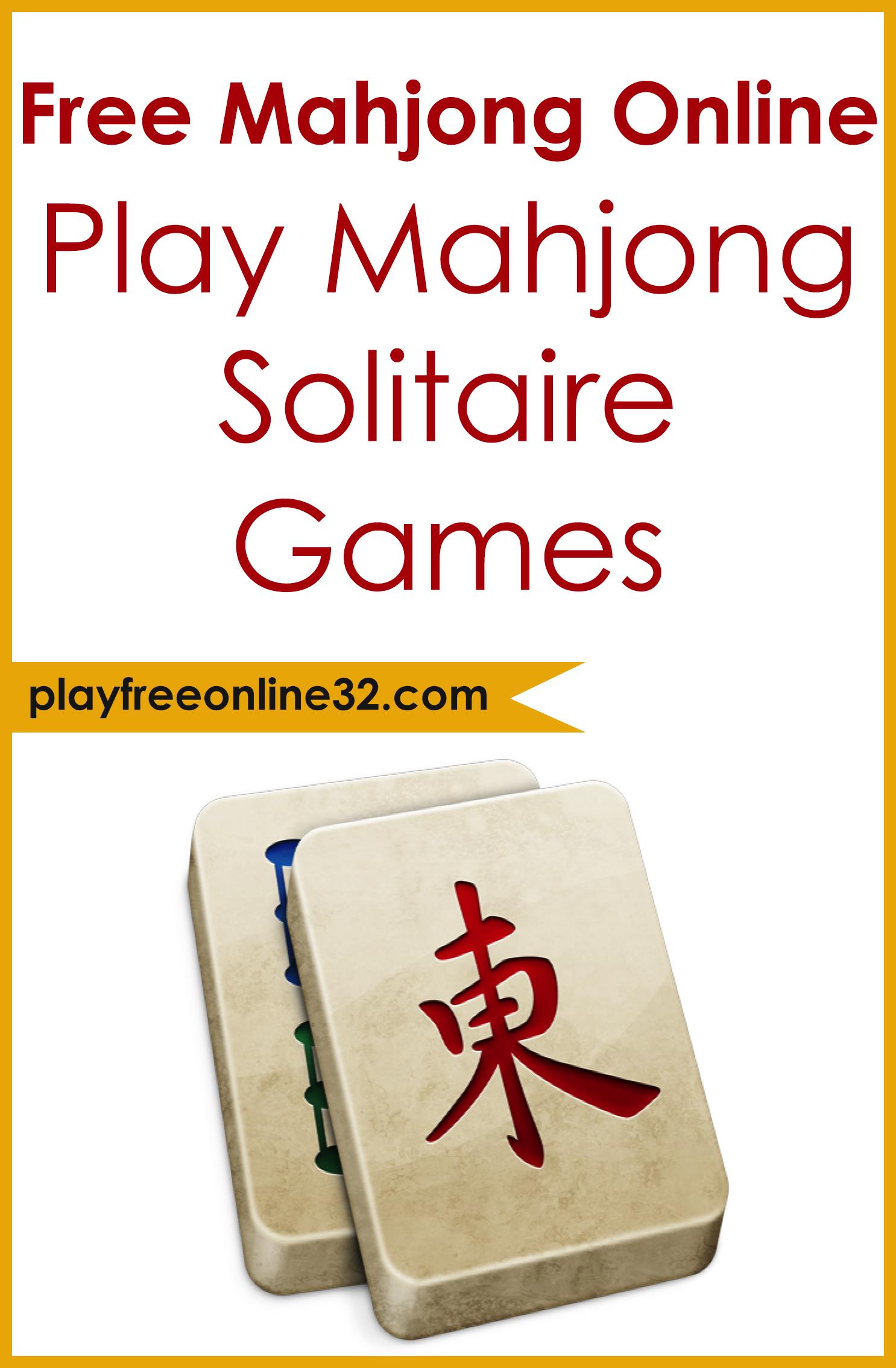 Free Mahjong Online • Play Mahjong Solitaire Games